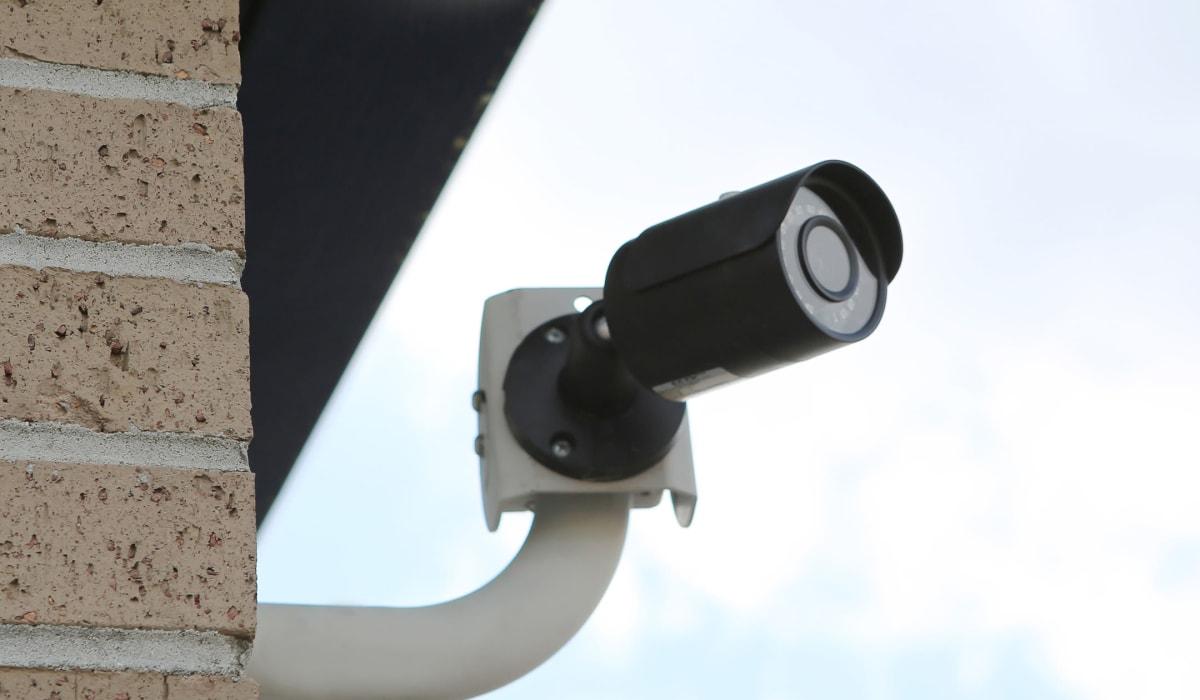 Security camera at Midgard Self Storage in Brevard, NC