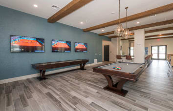 Fantastic sports lounge at apartments in Fredericksburg, Virginia