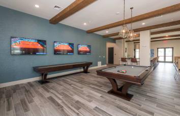 Fantastic sports lounge at apartments in Fredericksburg, Virginia