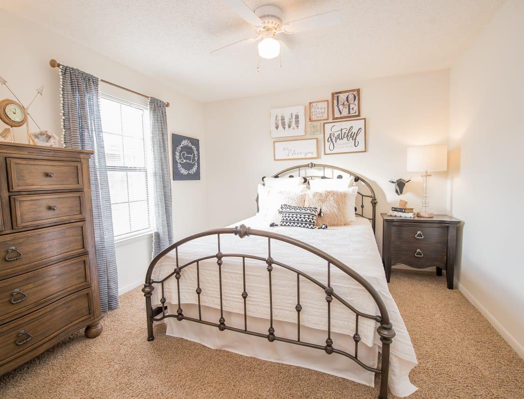 Master bedroom at Waters Edge in Oklahoma City, Oklahoma