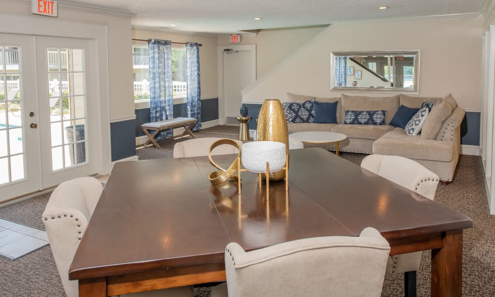 Interior clubhouse at Riverpark Apartments in Tulsa, Oklahoma