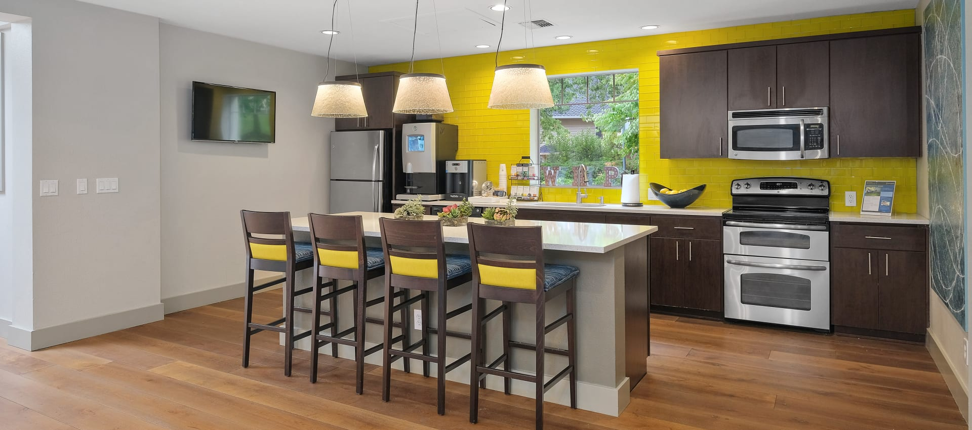 Clubhouse Kitchen at Waterhouse Place in Beaverton, OR