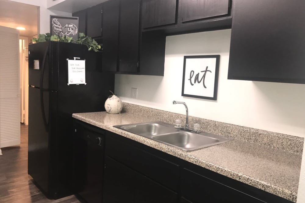 Enjoy apartments with a modern kitchen at Green Meadows Apartments