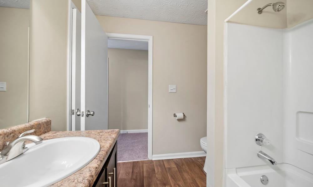 Bathroom at The Greens at Cascade Apartment Homes in Atlanta, Georgia