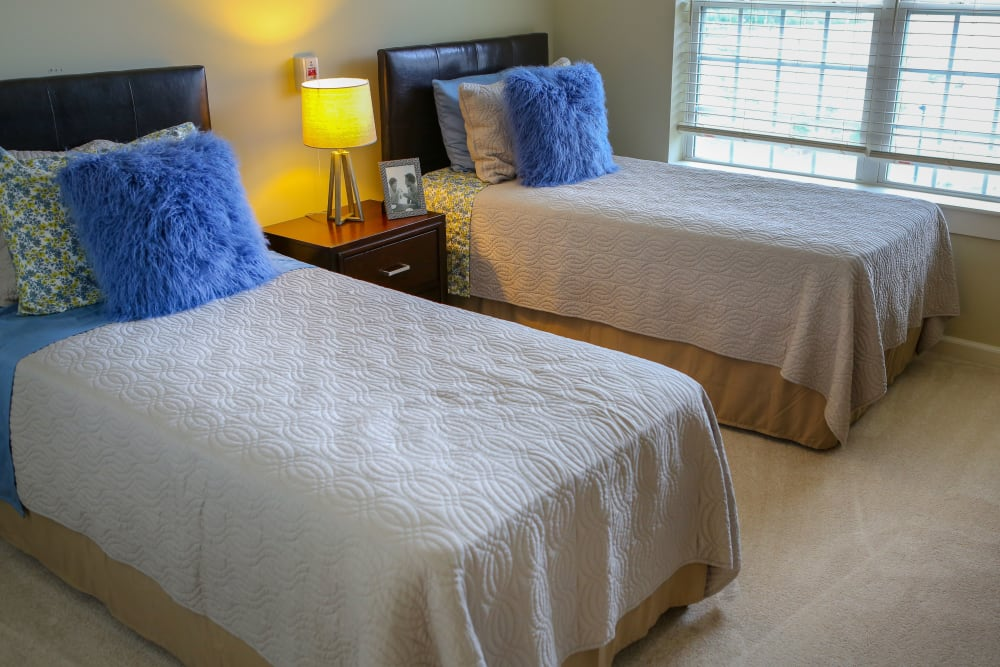 A view of a bedroom at Harmony at Spring Hill in Lorton, Virginia
