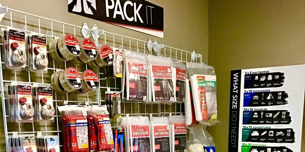 Packing supplies at StorQuest Express - Self Service Storage in Tahoe Vista, California