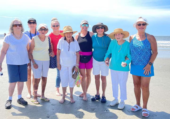 Carolina Park (SC) residents enjoying their time down on the beach.