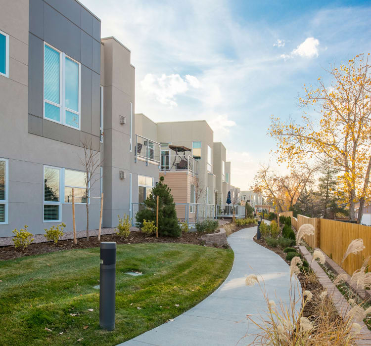 Plenty of outdoor walking paths and green spaces to enjoy at Village at Belmar in Lakewood