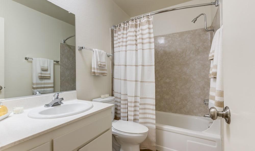 White bathroom at Vista Pointe I in Studio City, California