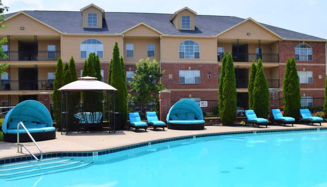The pool at Woodscape Apartments in Oklahoma City, Oklahoma