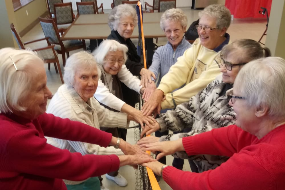 Residents enjoying a game