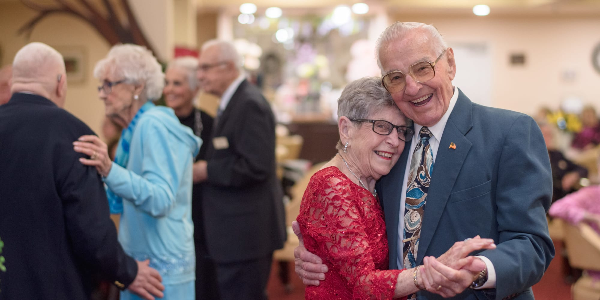 Residents of Hessler Heights Gracious Retirement Living in Leesburg, Virginia at a dance