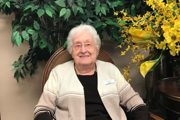 Lois Ownbey, a resident at Bella Vista Gracious Retirement Living in Asheville, North Carolina