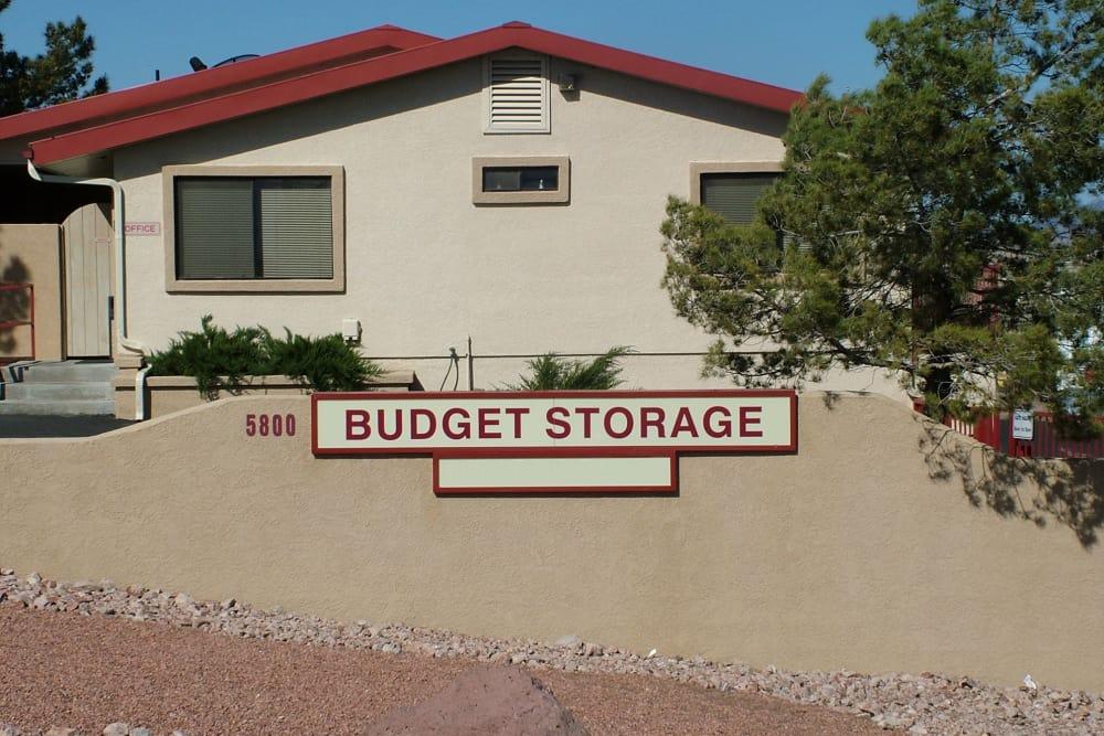 Entrance at Budget Mini Storage