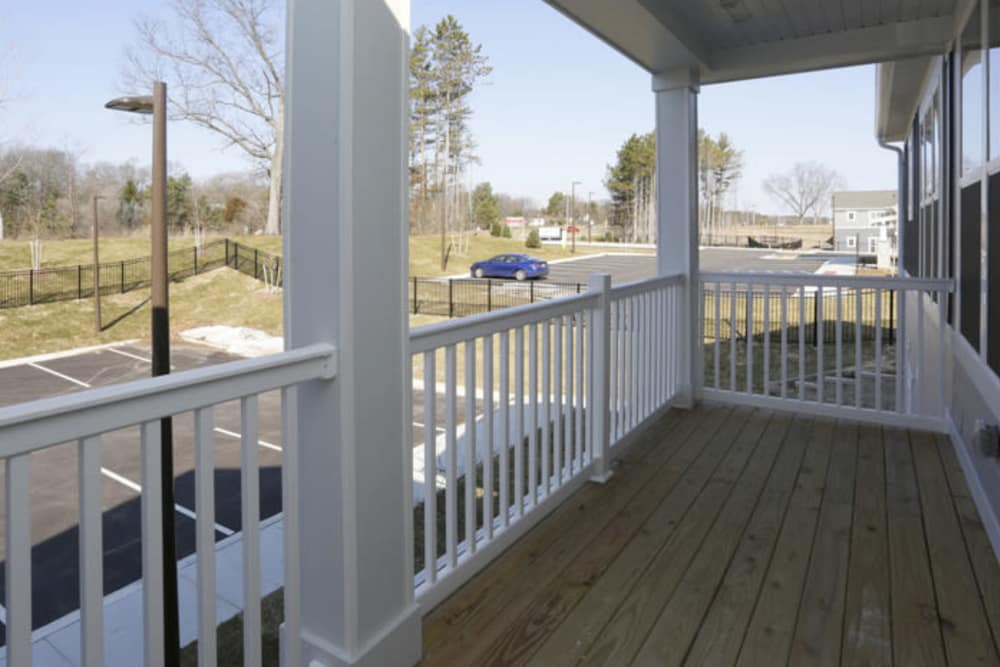 Patio Balcony at Springs at Canterfield in West Dundee