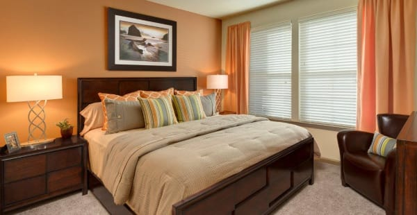 Spacious main bedroom at The Addison at South Tryon in Charlotte, North Carolina