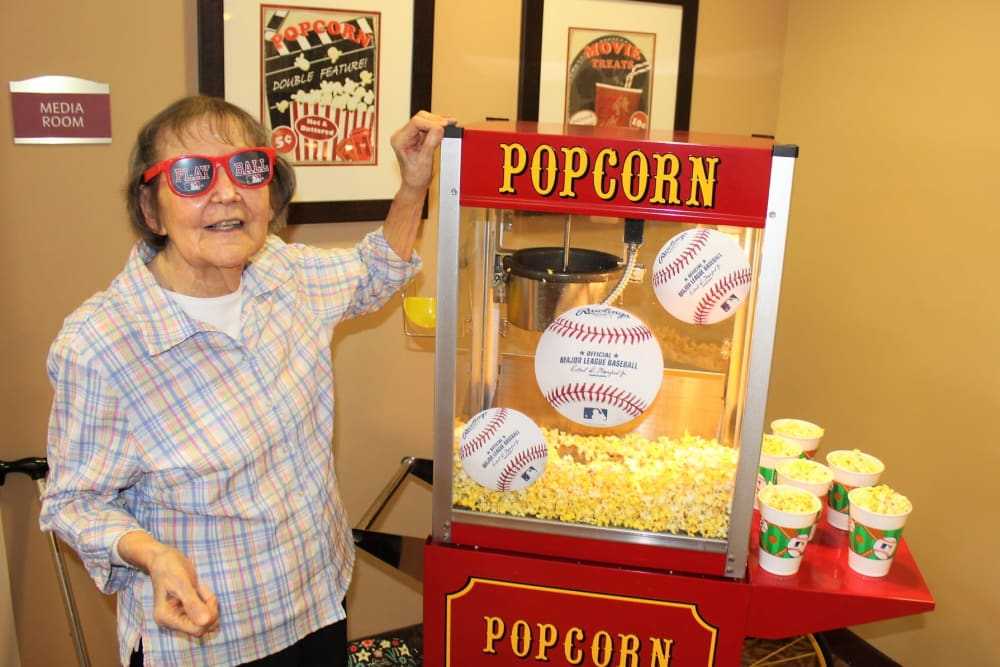 Opening day popcorn at The Oaks