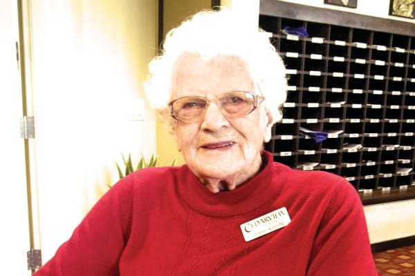 Janette Ratcliffe, a resident at Cedarview Gracious Retirement Living in