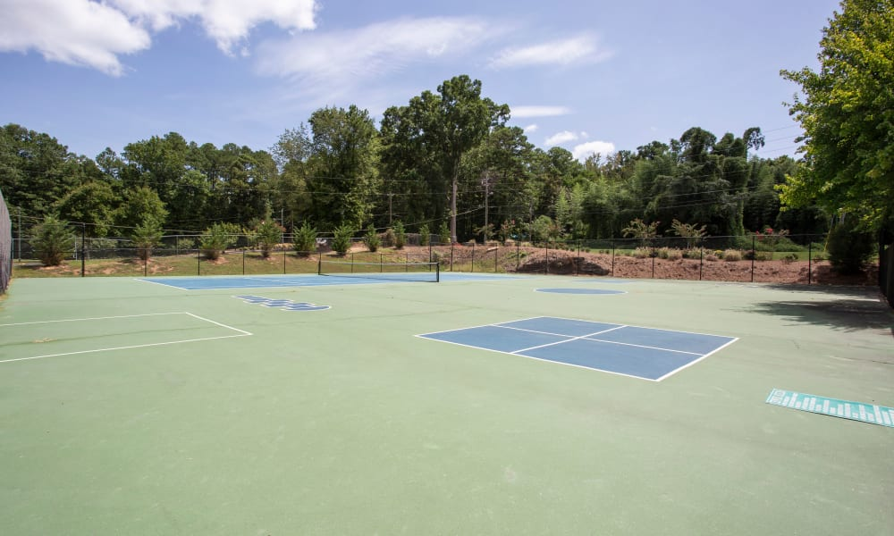Tennis Court, recreational area at The Greens at Cascade in Atlanta, Georgia