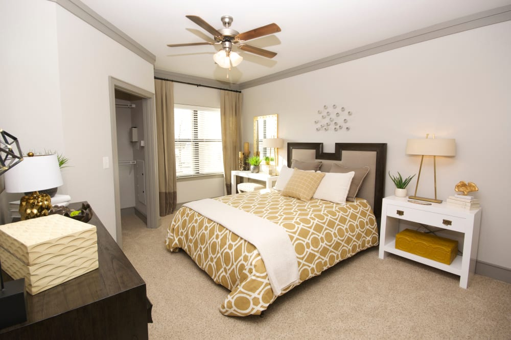 Bedroom model layout at The Sovereign in Fort Worth, Texas