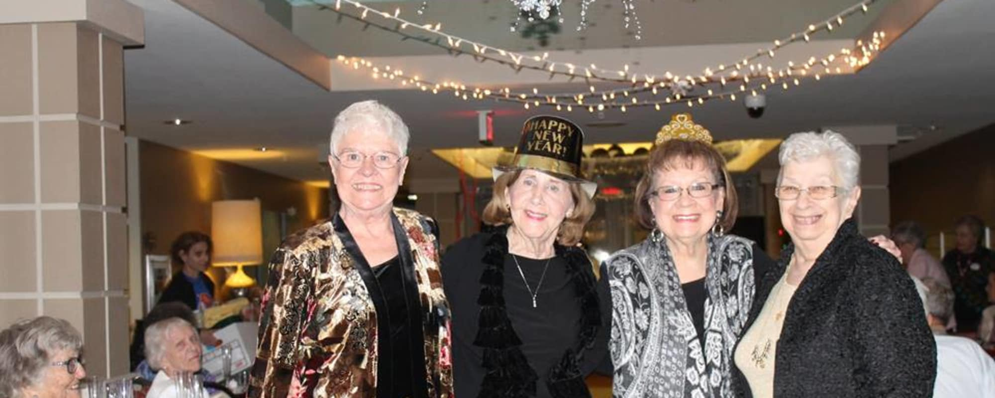 Seniors at New Years Party at McDowell Village in Scottsdale, Arizona