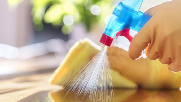 Disinfecting a Countertop