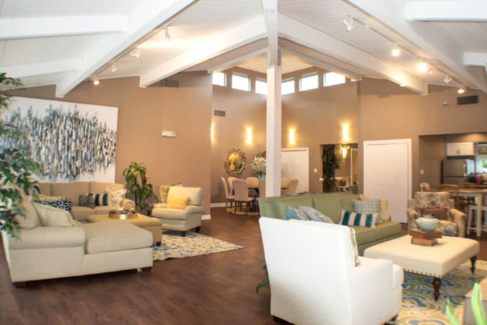 Large and inviting community clubhouse at Laurel Pines Apartments in Richmond, Virginia