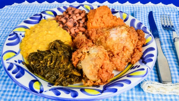 Plate of soul food from a restaurant near Olympus Hillwood in Murfreesboro, Tennessee
