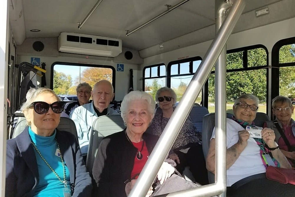 Residents on the bus to go vote in Madison, AL