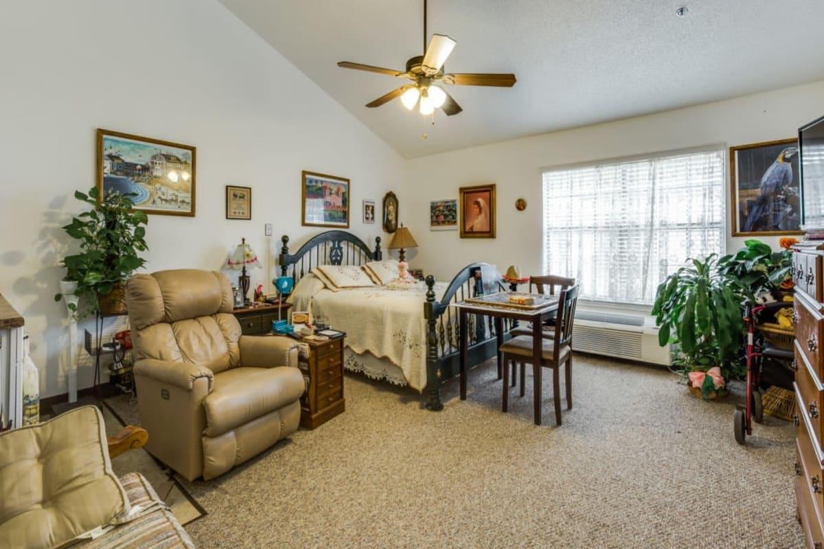 Living room model at Parsons House La Porte in La Porte, Texas