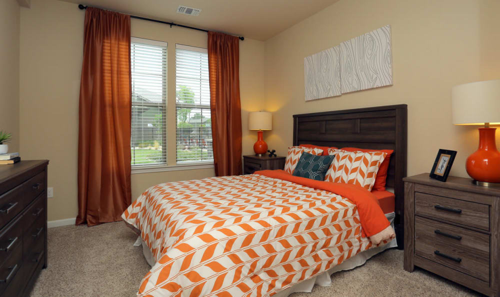 Spacious Bedroom At Springs at Woodlands South Apartments In Tulsa