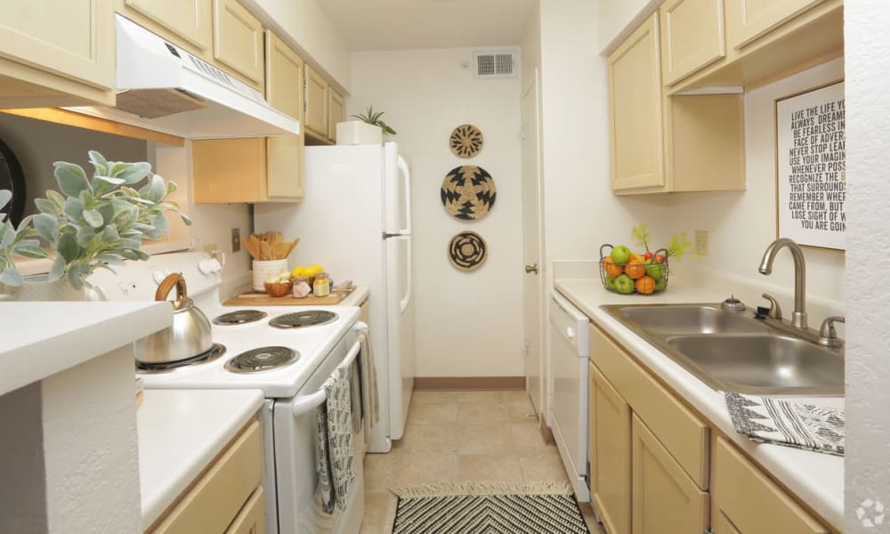 Fully equipped kitchen at Shadow Ridge Apartments in El Paso, Texas