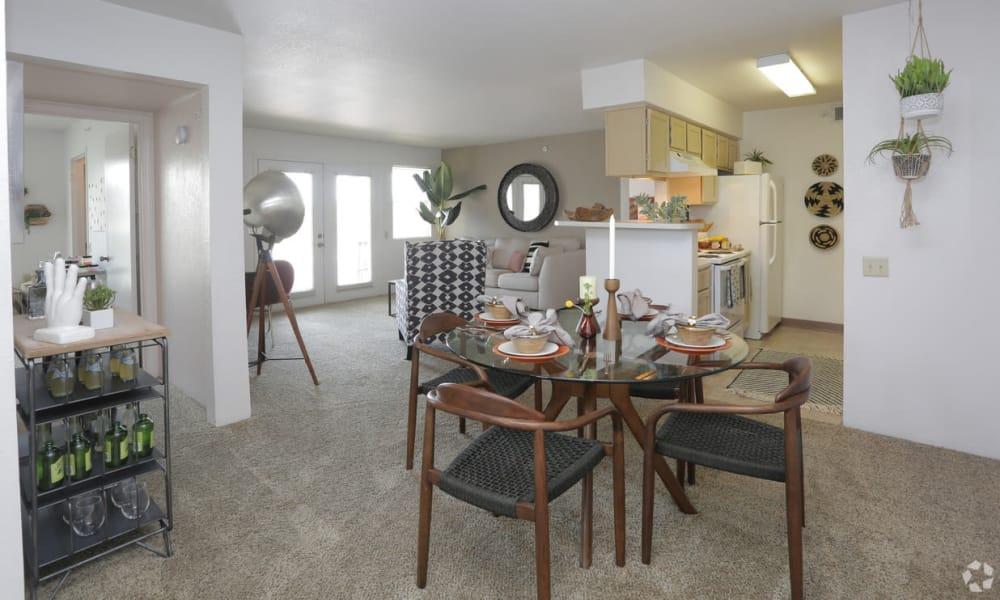 Dining room at Shadow Ridge Apartments in El Paso, Texas