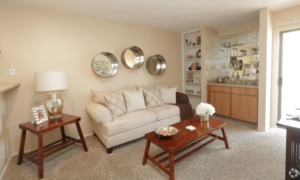 Bright living room at Shadow Ridge Apartments in El Paso, Texas
