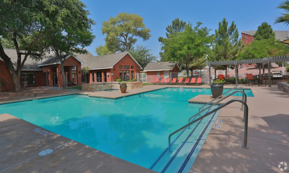 Resort style pool at Shadow Ridge Apartments in El Paso, Texas