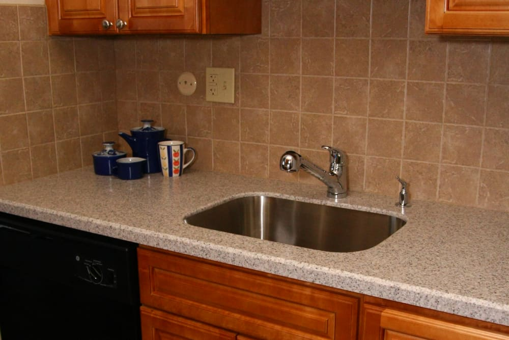 Kitchen counter top at Carlyle Towers in Caldwell, NJ