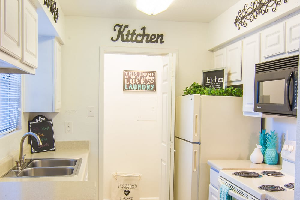 Our apartments in Humble, Texas showcase a renovated kitchen