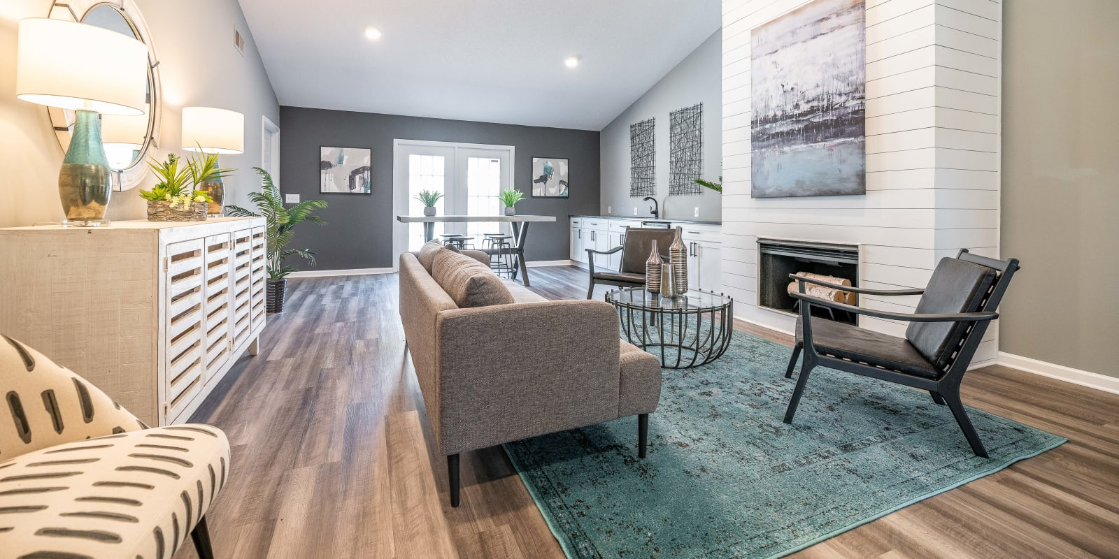 Spacious Clubhouse at Parkway Station Apartment Homes in Concord, North Carolina