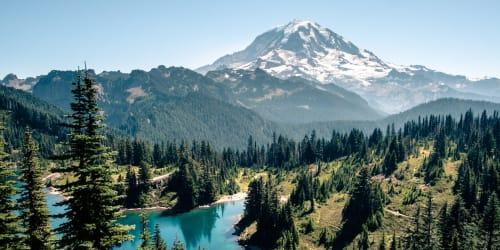 Mount Rainier, a day trip away from Kestrel Park in Vancouver, Washington