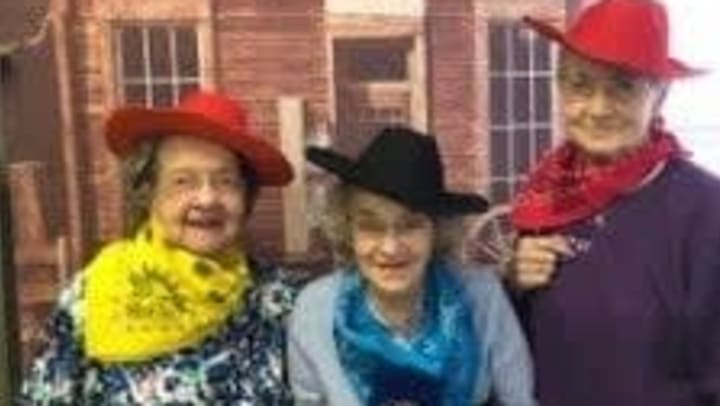 Residents dressed up for Penny Ante