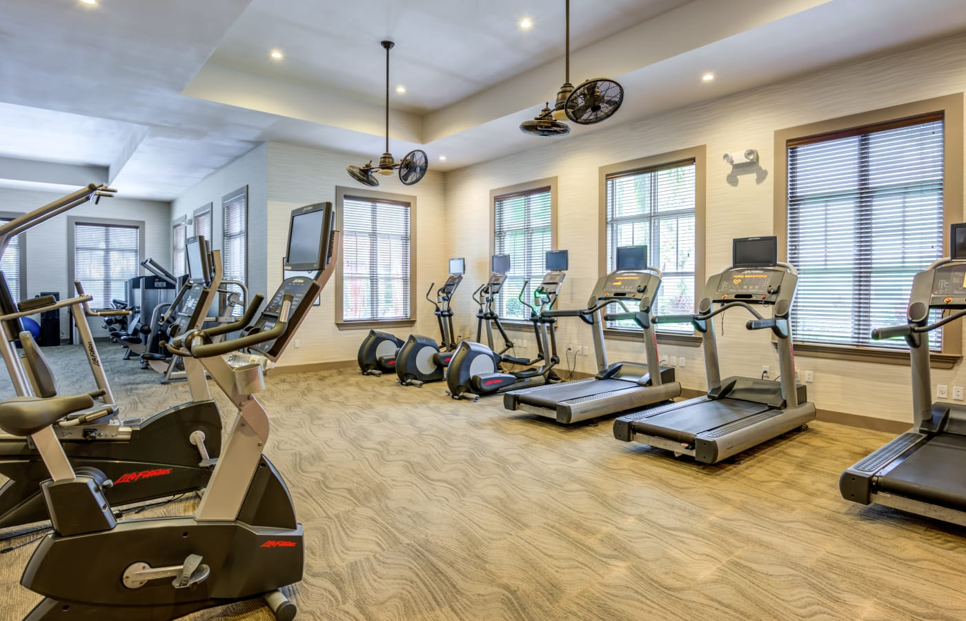 Fitness center at IMT Miramar in Miramar, Florida
