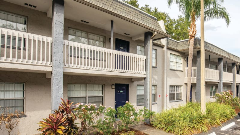 The exterior of  Southern Cove Apartments in Temple Terrace, Florida