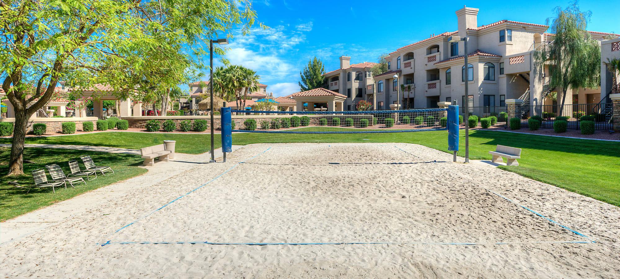 San volleyball court at San Pedregal in Phoenix, Arizona