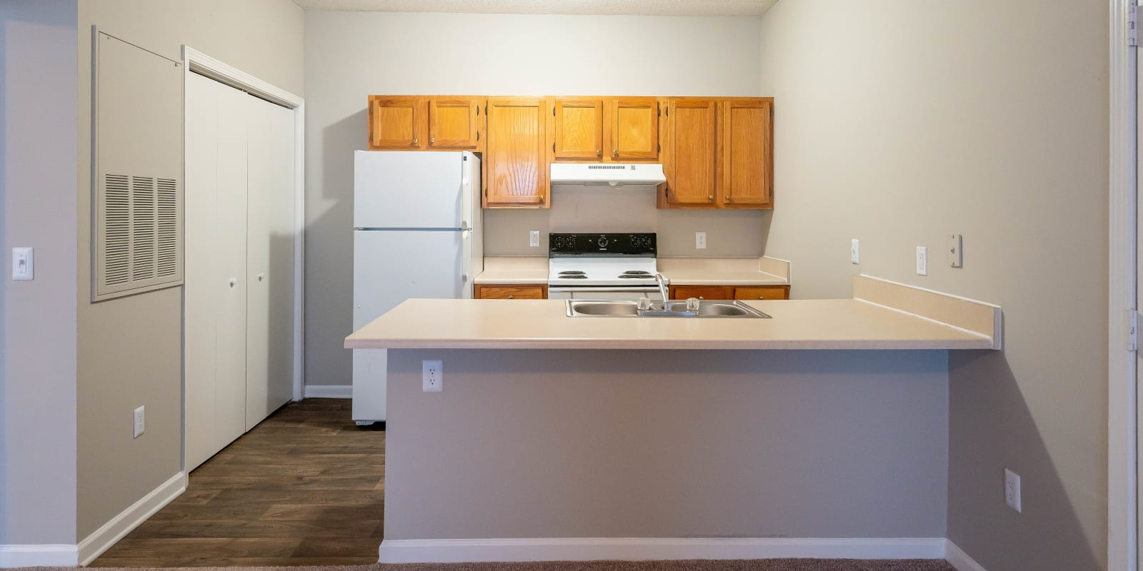 Bright Kitchen at Clemmons Station Apartment Homes in Clemmons, North Carolina