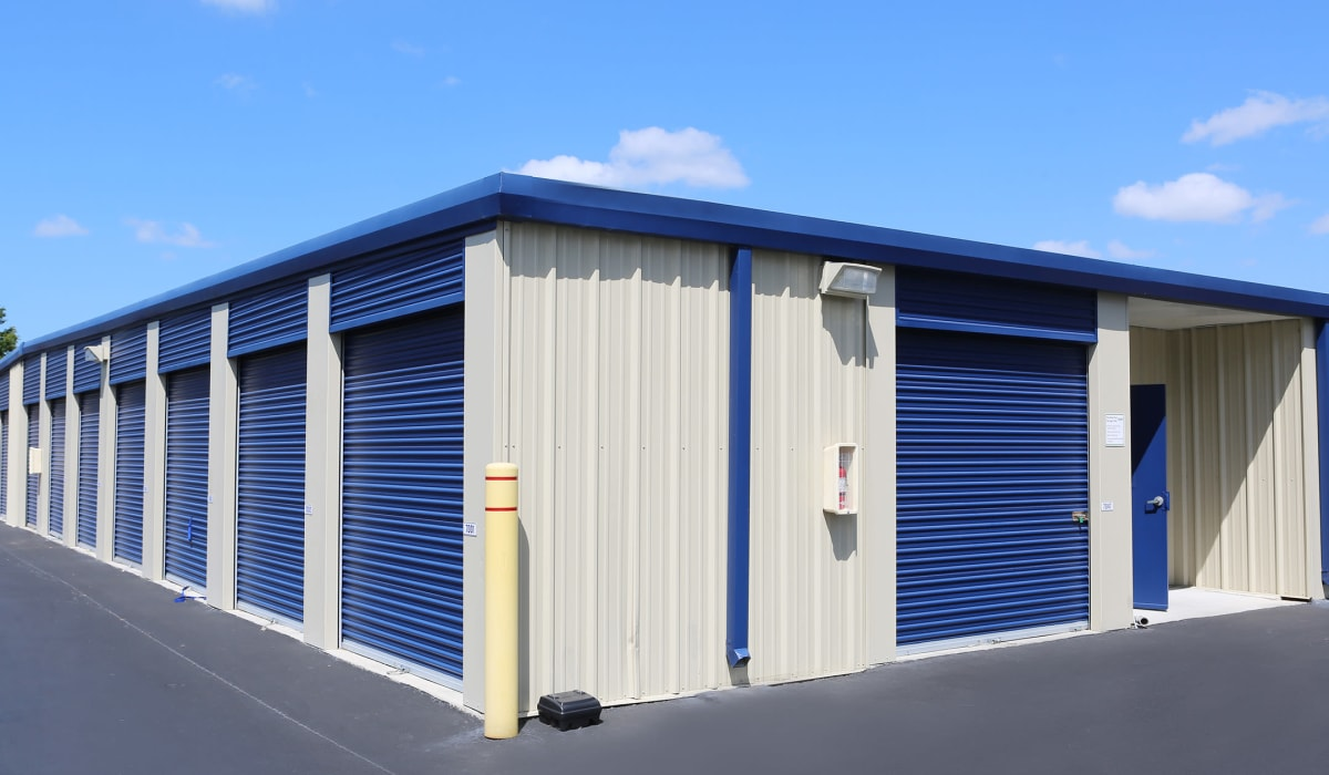 Exterior of outdoor units at Midgard Self Storage in Wilmington, North Carolina