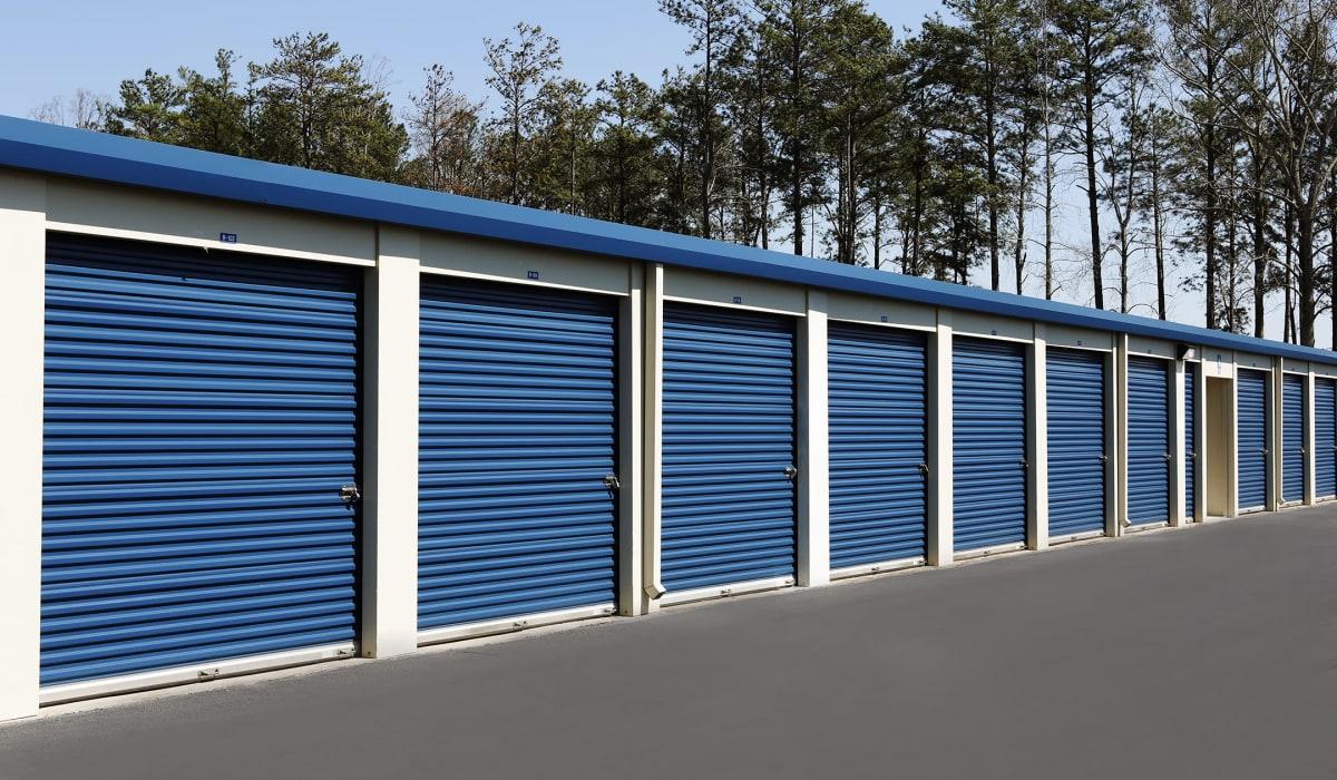 Exterior units at Midgard Self Storage in Midland, NC
