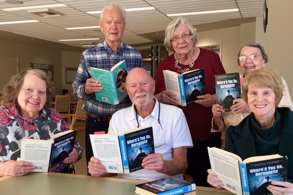 Residents created a reading group at Merrill Gardens at Ballard