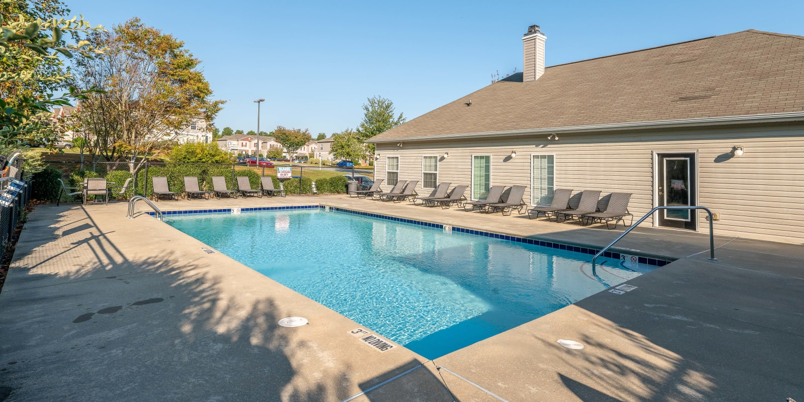Pool at Clemmons Station Apartment Homes in Clemmons, North Carolina