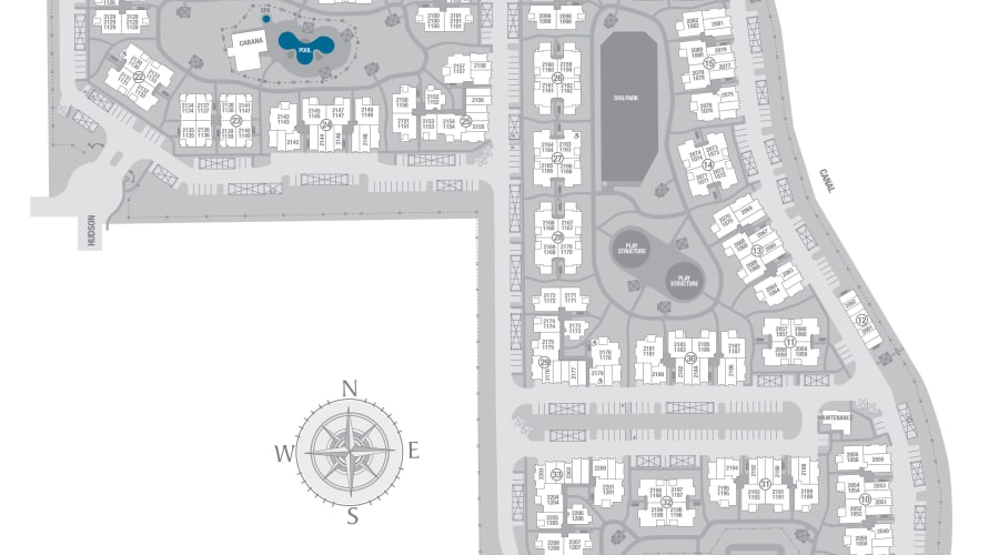 San Valencia site plan