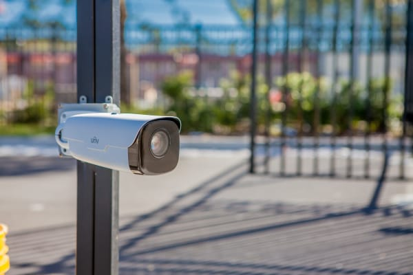 Security Cameras provide Secure Storage Units